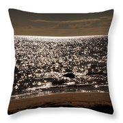 Glistening On The Water Throw Pillow