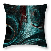 Glitter In The Night Throw Pillow