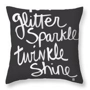 Glitter Sparkle Twinkle Throw Pillow