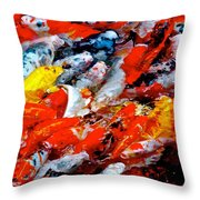 Glittering Of Koi Throw Pillow