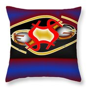 Global Dancing Round The Golden Calf Throw Pillow
