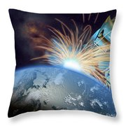 Global Meltdown Throw Pillow