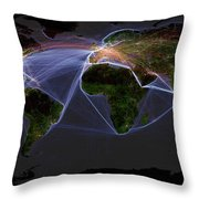 Global Transportation Map Throw Pillow by Felix PD and Globaia