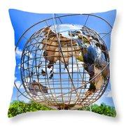Globe At Columbus Circle Throw Pillow