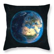 Globe Daynight Europe Throw Pillow
