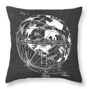 Globe For Astrologers Throw Pillow