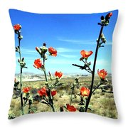 Globe Mallows Throw Pillow