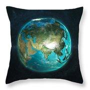 Globe Physical Asia Throw Pillow