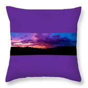 Globe Sunset Throw Pillow