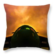 Globemaster In The Morning Throw Pillow