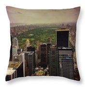 Gloomy Central Park Throw Pillow