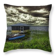 Gloomy Day By The Lake Throw Pillow