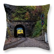 Gloomy Day On The Clinchfield  Throw Pillow