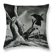 Gloomy Throw Pillow