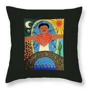Gloria Anzaldua Throw Pillow