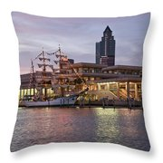 Gloria Visiting Tampa Throw Pillow