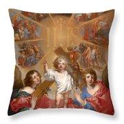 Glorification Of The Name Of Jesus Throw Pillow