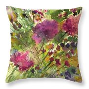 Glorious Flowers Throw Pillow