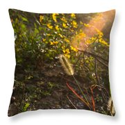 Glorious Foxtail Throw Pillow