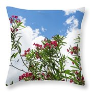 Glorious Fragrant Oleanders Reaching For The Sky Throw Pillow