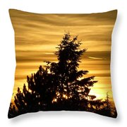 Glorious Guildford Sunset Throw Pillow