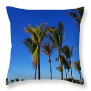 Glorious Palms Throw Pillow