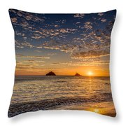 Glorious Playa Sunset Throw Pillow