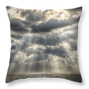 Glorious Rays Of The Heavens Throw Pillow