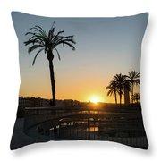 Glorious Sevillian Sunset With Palms Throw Pillow