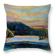 Glorious Winter Sunrise Throw Pillow