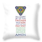 Glory Be Prayer Throw Pillow