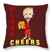Glory Cheers Throw Pillow