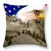 Glory To America Throw Pillow