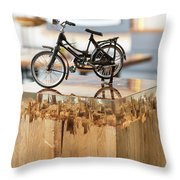 Glossy Coffee Table Throw Pillow