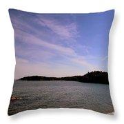 Gloucester Beach Throw Pillow