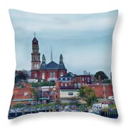 Gloucester Harbour Throw Pillow