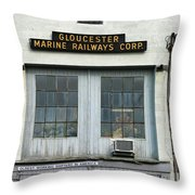 Gloucester Marine Railways Massachusetts Throw Pillow