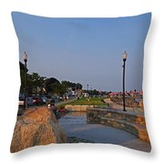 Gloucester Waterfront Gloucester Harbor Throw Pillow