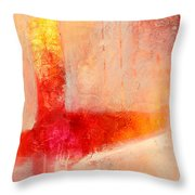 Glow 2 Abstract Art Throw Pillow