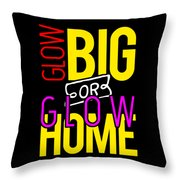 Glow Birthday Party Apparel Throw Pillow
