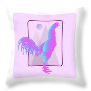 Glow Chicken Throw Pillow