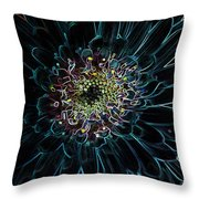Glow Edge Flower Throw Pillow