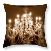 Glow From The Past Throw Pillow by Karen Wiles