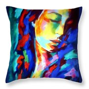 Glow In Shadows Throw Pillow
