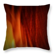 Glow Of The Flame Throw Pillow