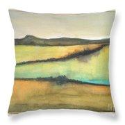 Glow Of The Prairie Throw Pillow