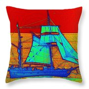 Glow Ship 3 Photograph Throw Pillow
