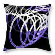 Glow Stix Throw Pillow