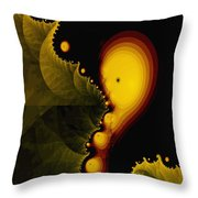 Glow Worm Throw Pillow