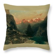 Glowing Alps Throw Pillow